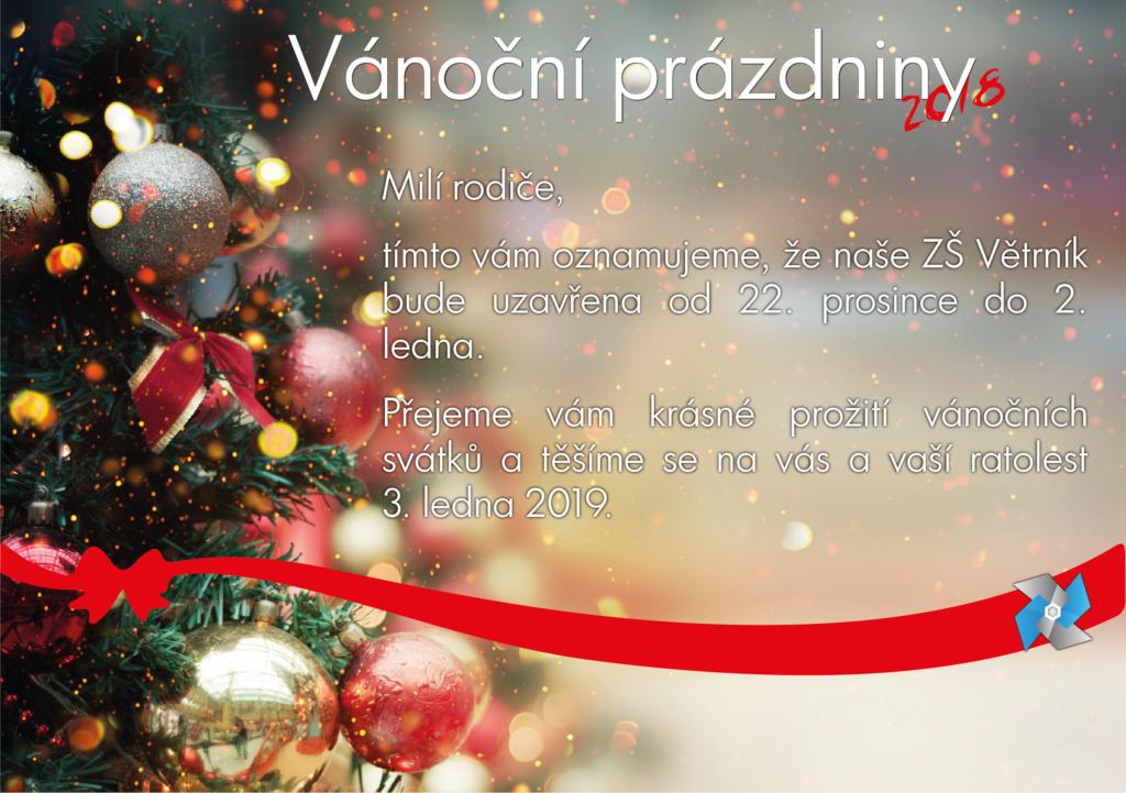 Vánoční prázdniny ZŠ